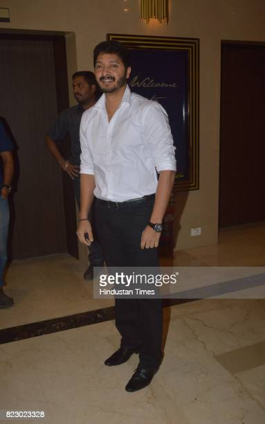 Bollywood actor Shreyas Talpade at the music launch of Marathi Film Bhikari on July 23 2017 in Mumbai India