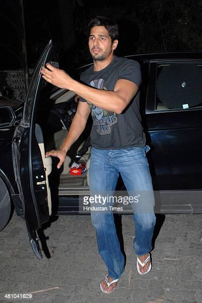 Bollywood actor Siddharth Malhotra at Sunny Super Sound Juhu on March 26 2014 in Mumbai India