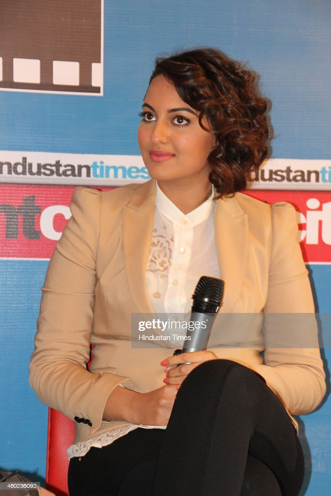 Bollywood actor Sonakshi Sinha during an exclusive interview with HT City for the promotion of her new movie Action Jackson at HT Media Office on...