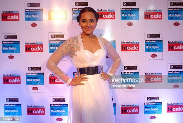 Bollywood actor Sonakshi Sinha during the Hindustan Times Mumbai's Most Stylish Awards 2015 at JW Mariott Hotel Juhu on March 26 2015 in Mumbai India