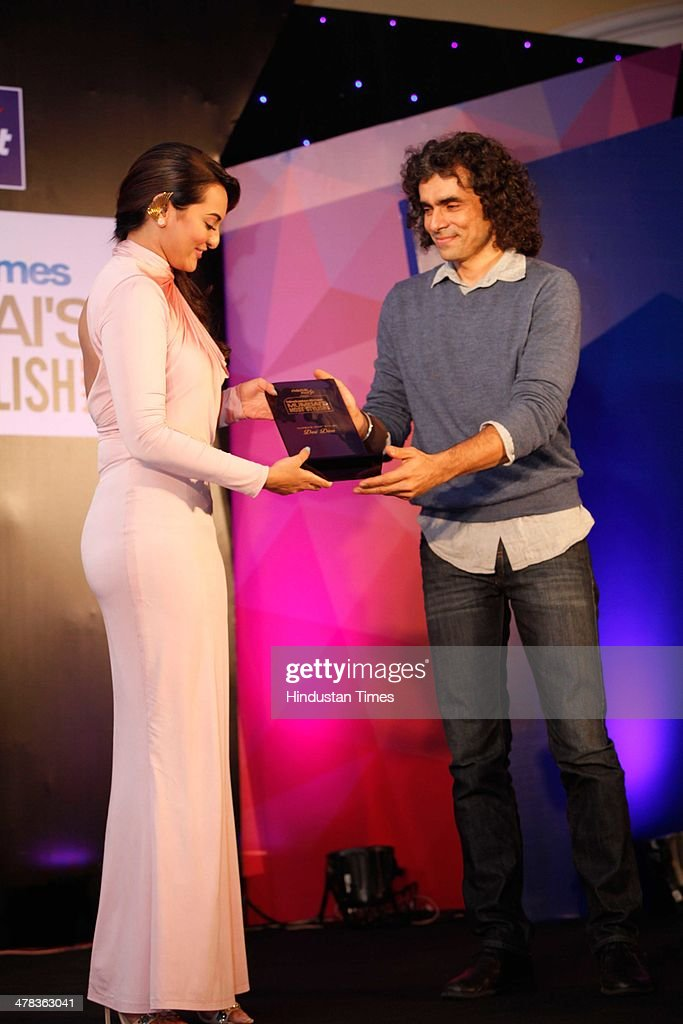 Bollywood actor Sonakshi Sinha with filmmaker Imtiaz Ali during the Hindustan Times Mumbais `Most Stylish Awards 2014` at ITC Grand Central Parel on..