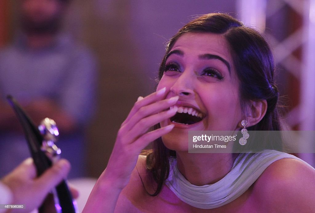 Bollywood actor Sonam Kapoor during the Hindustan Times Mumbai's Most Stylish Awards 2015 at JW Mariott Hotel, Juhu on March 26, 2015 in Mumbai, India.