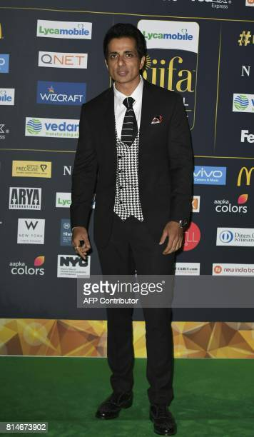 Bollywood actor Sonu Sood arrives for IIFA Rocks July 14 2017 at the MetLife Stadium in East Rutherford New Jersey during the 18th International...