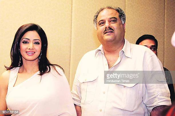 Bollywood actor Sridevi and film producer and director Boney Kapoor during an function on November 16 in Mumbai India Sridevi the actor wife of...
