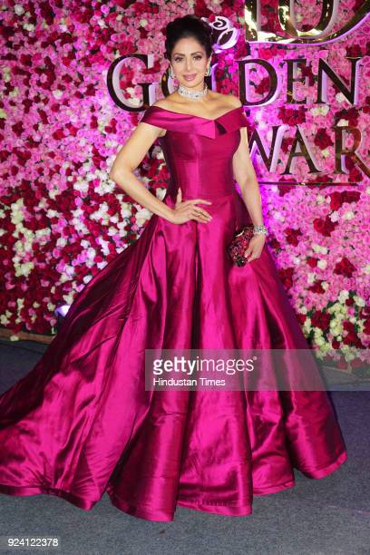 Bollywood actor Sridevi attends the Lux Awards at Yash Raj Studio on December 10 in Mumbai India Sridevi the actor wife of producer Boney Kapoor died...