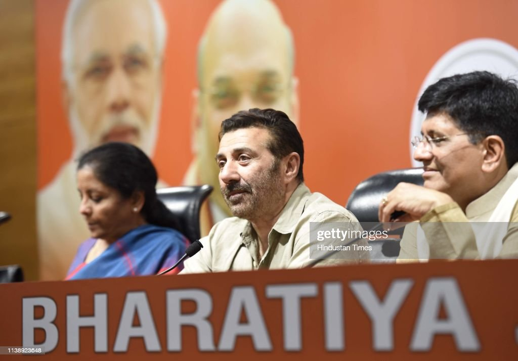 IND: Bollywood Actor Sunny Deol Joins BJP