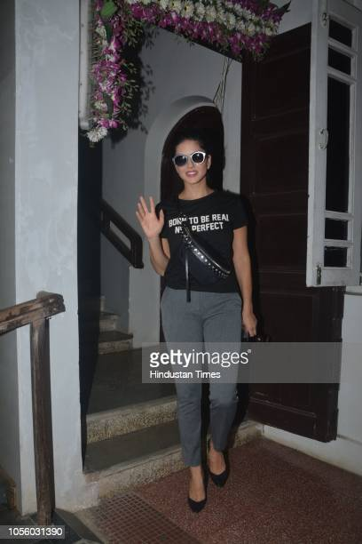 Bollywood actor Sunny Leone spotted at Bandra on October 22, 2018 in Mumbai, India.