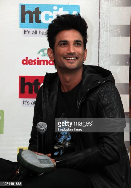 Bollywood actor Sushant Singh Rajput during an exclusive interview with HT CityHindustan Times for the promotion of her upcoming movie Kedarnath' at...