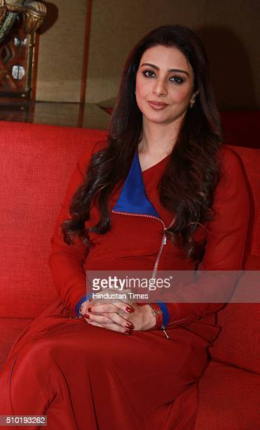 Bollywood actor Tabu posing for a profile shoot during an interview with HTCity for the promotion of an upcoming movie Fitoor at Hotel Le Meridien on...