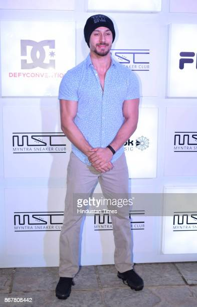 Bollywood actor Tiger Shroff attends a party organised by Myntra on October 27 2017 in Mumbai India