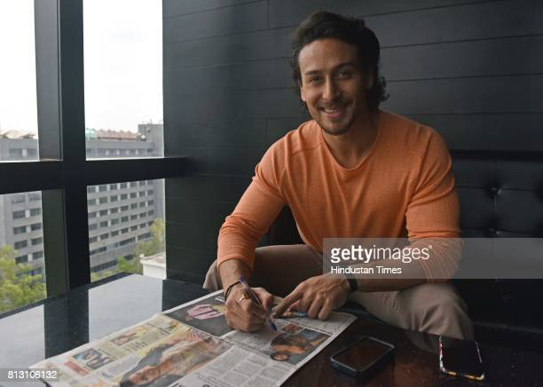 Bollywood actor Tiger Shroff during an exclusive interview with Hindustan Times for the promotion of upcoming movie Munna Michael at Penthouze...