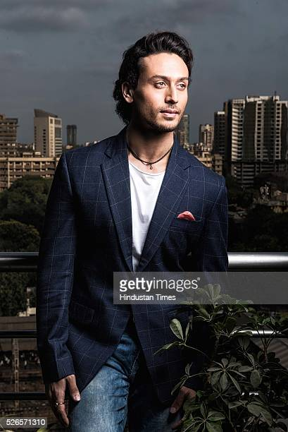 Bollywood actor Tiger Shroff during an exclusive interview with HT Cafe for an upcoming movie Bhaggi at HT Office Parel on April 21 2016 in Mumbai...