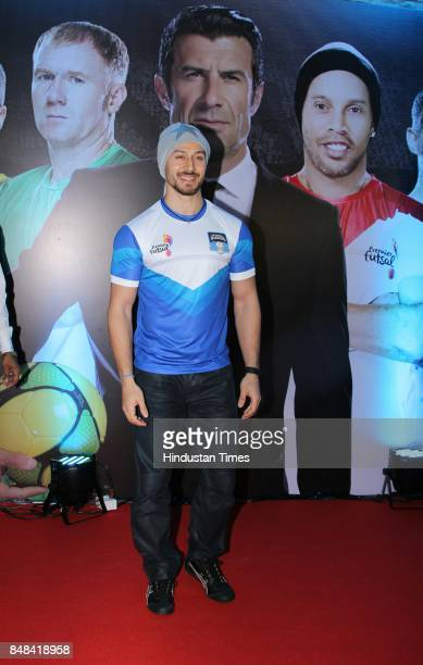 Bollywood actor Tiger Shroff during the launch of premier Futsal on September 15 2017 in Mumbai India