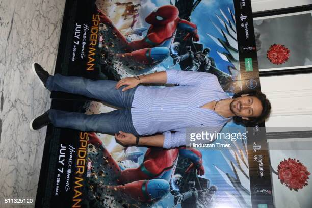 Bollywood actor Tiger Shroff during the special screening of movie Spiderman at Le Reve Bandra Hill Road on July 4 2017 in Mumbai India
