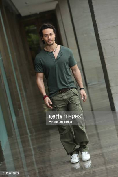 Bollywood actor Tiger Shroff poses during an exclusive interview with HT CityHindustan Times for the promotion of a movie 'Munna Michael' on July 7...