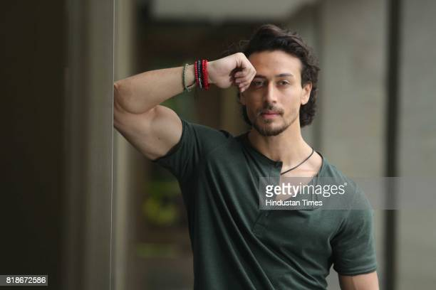 Bollywood actor Tiger Shroff poses during an exclusive interview with HT CityHindustan Times for the promotion of a movie Munna Michael on July 7...