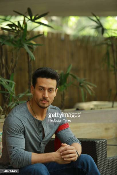 Bollywood actor Tiger Shroff poses during an interview with HT CityHindustan Times for the promotion of his upcoming movie Baaghi 2 at Le Meridien on...