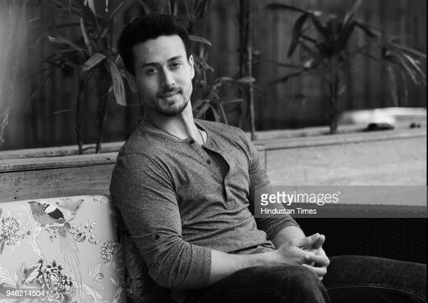 Bollywood actor Tiger Shroff poses during an interview with HT CityHindustan Times for the promotion of his upcoming movie 'Baaghi 2' at Le Meridien...
