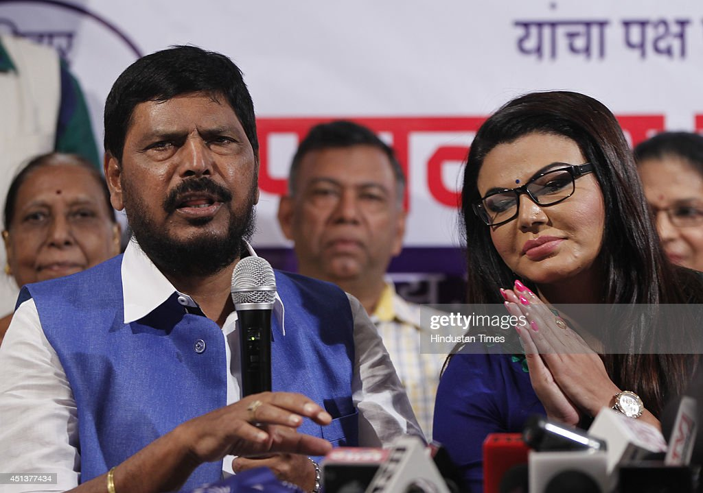 Bollywood actor turned poltician Rakhi Sawant with RPI