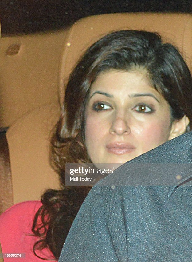 Bollywood actor Twinkle Khanna arrives at Karan Johar`s birthday party in Mumbai on May 25 2013