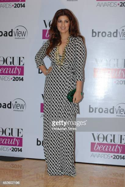 Bollywood actor Twinkle Khanna during the Vogue Beauty Awards 2014 at Taj Lands End Bandra July 22 2014 in Mumbai India