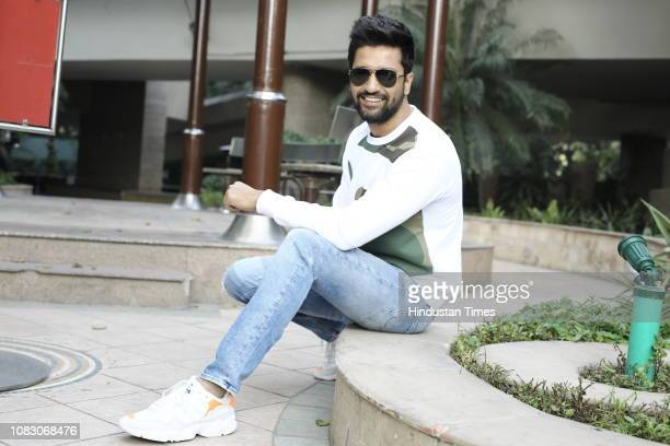 Bollywood actor Vicky Kaushal poses during a profile shoot for HT City on January 9 2019 in New Delhi India