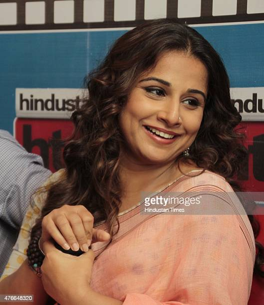Bollywood actor Vidya Balan during an exclusive interview with HT CityHindustan Times for the promotion of upcoming film Hamari Adhuri Kahani at HT...