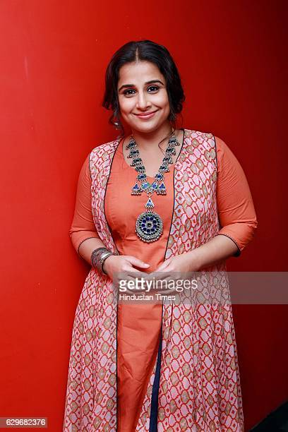 Bollywood actor Vidya Balan during an exclusive interview with HT CityHindustan Times for the promotion of her upcoming movie 'Kahaani 2' as part of...