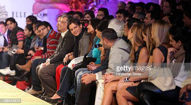 Bollywood actor Vivek Oberoi sitting in the audience during special show named You Can Free Us at Wills Lifestyle India Fashion Week Autumn Winter...