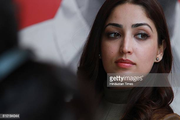Bollywood actor Yami Gautam during an exclusive interview with HTCity for the promotion of an upcoming movie Sanam Re at HT Media Office on February...