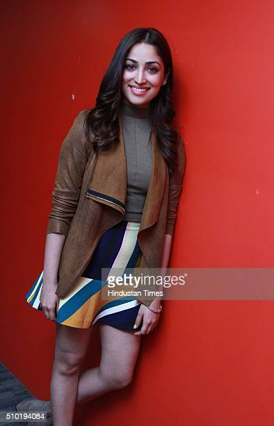 Bollywood actor Yami Gautam during an exclusive interview with HTCity for the promotion of an upcoming movie 'Sanam Re' at HT Media Office on...