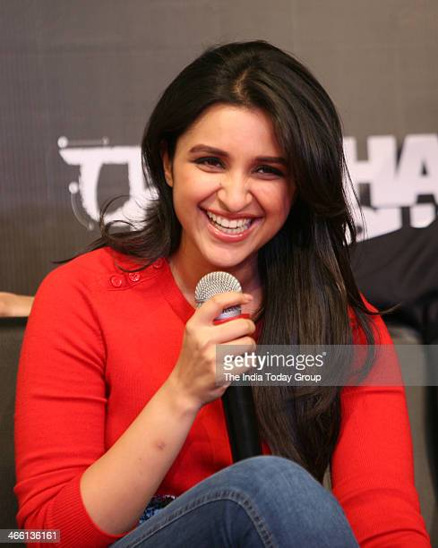 Bollywood actoress Parineeti Chopra at the launch of Hasee Toh Phasee mobile app in Mumbai on 30th January 2014