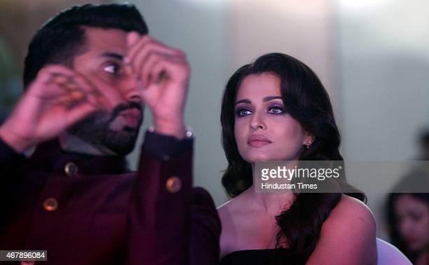Bollywood actors Abhishek Bachchan and Aishwarya Rai Bachchan during the Hindustan Times Mumbai's Most Stylish Awards 2015 at JW Mariott Hotel Juhu...