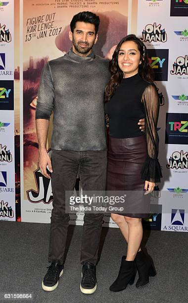 Bollywood actors Aditya Roy Kapoor and Shraddha Kapoor during promotion of their film 'Ok Jaanu' in New Delhi