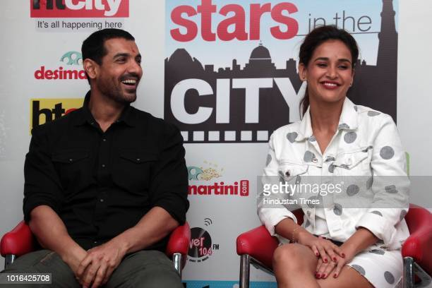 Bollywood actors Aisha Sharma and John Abraham during an exclusive interview with HT CityHindustan Times for the promotion of upcoming movie...