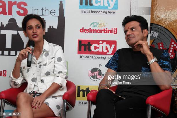 Bollywood actors Aisha Sharma and Manoj Bajpayee during an exclusive interview with HT CityHindustan Times for the promotion of upcoming movie...