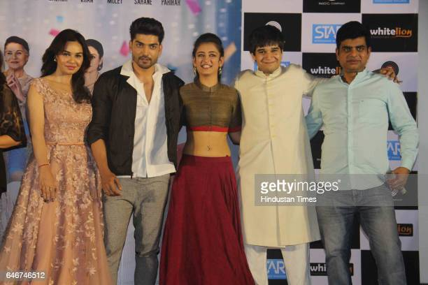 Bollywood actors Akshara Haasan Gurmeet Choudhary Kavita Verma Vivaan Shah and filmmaker Manish Harishankar during a trailer launch of movie 'Laali...