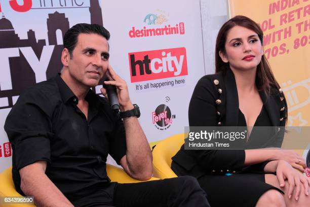 Bollywood actors Akshay Kumar and Huma Qureshi during an exclusive interview with HT CityHindustan Times for the promotion of upcoming movie Jolly...