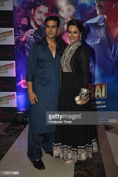 Bollywood actors Akshay Kumar and Sonakshi Sinha at Ekta Kapoor's grand Iftar Party to promote Once Upon a Time in Mumbai Dobara at JW Marriott Hotel...