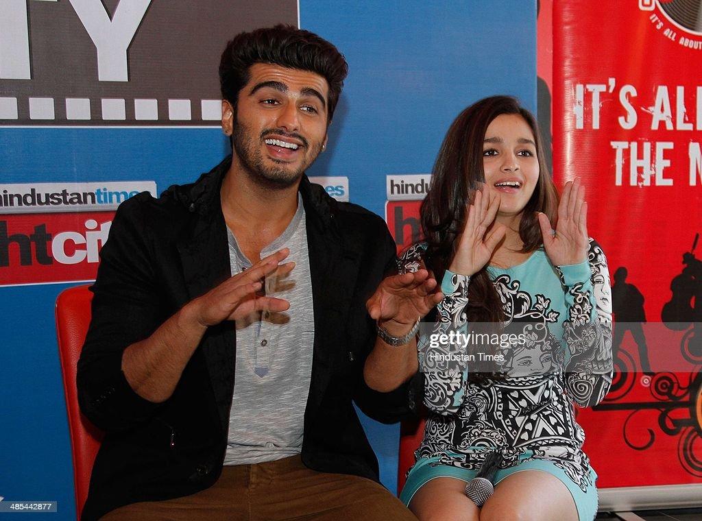 Bollywood actors Alia Bhatt and Arjun Kapoor during an ...