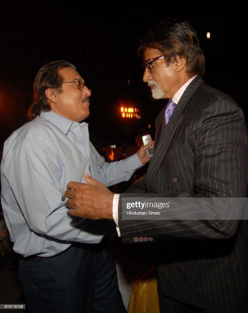 Bollywood actors Amitabh Bachchan and Vinod Khanna at Seth Walchand Hirachand's birth anniversary at Cricket Club of India Churchgate on November