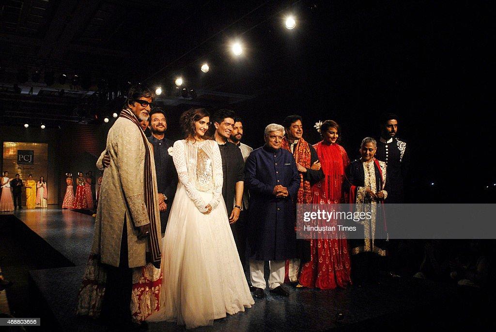 Bollywood actors Amitabh Bachchan Anil Kapoor Sonam Kapoor Manish Malhotra Farhan Akhtar Javed Akhtar Shatrughan Sinha Sonakshi Sinha Jaya Bachchan...