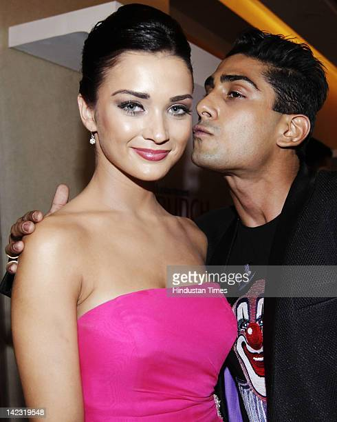 Bollywood Actors Amy Jackson and Prateik attends Hindustan Times Brunch Dialogues Conversations with Indian Cinema at BandraKurla Complex on March 26...