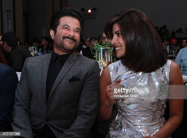 Bollywood actors Anil Kapoor and Prinyanka Chopra during the Hindustan Times Delhis Most Stylish 2015 award function on May 2 2015 in New Delhi India