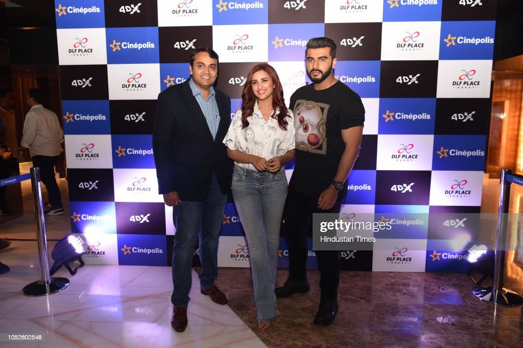 Bollywood Actors Arjun Kapoor And Parineeti Chopra Along With Devang