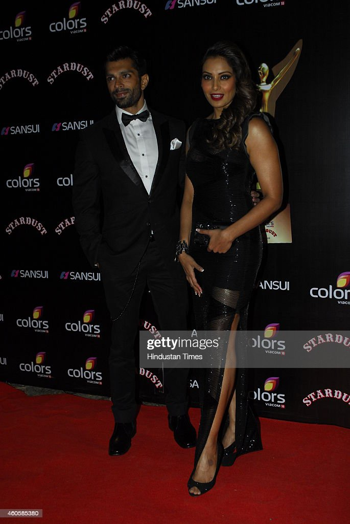 Bollywood actors Bipasha Basu and Karan Singh Grover during the Colors Stardust Awards 2014 on December 14 2014 in Mumbai India