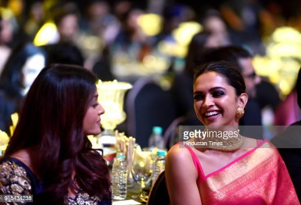 Bollywood actors Deepika Padukone and Aishwarya Rai Bachchan during Hindustan Times India's Most Stylish Awards 2018 at Yash Raj Studios Andheri on...
