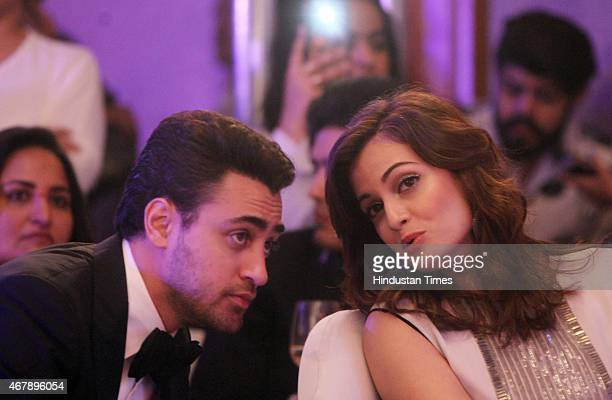 Bollywood actors Dia Mirza and Imran Khan during the Hindustan Times Mumbai's Most Stylish Awards 2015 at JW Mariott Hotel, Juhu on March 26, 2015 in...