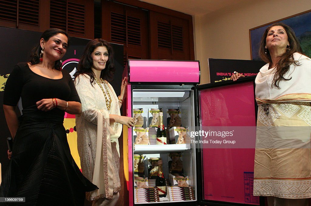 Bollywood actors Dimple Kapadia and Twinkle Khanna release India Today Group Chief Creative Officer Kalli Purie`s book Confessions of a Serial Dieter.
