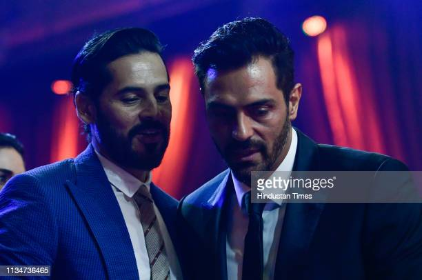 Bollywood actors Dino Morea and Arjun Rampal during the Hindustan Times India's Most Stylish Awards 2019 at St Regis on March 29 2019 in Mumbai India